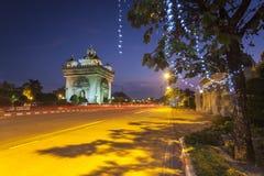 Patuxai Vientiane, Laos Stockbild