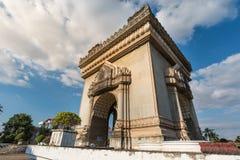 Patuxai in Vientiane, Laos stock image