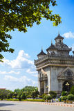 Patuxai in vientiane Royalty Free Stock Photography