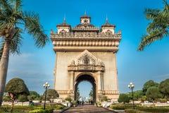 Patuxay, η πύλη νίκης Vientiane, Λάος Στοκ φωτογραφίες με δικαίωμα ελεύθερης χρήσης
