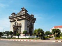 Patuxay i mitten av Vientiane Royaltyfri Bild