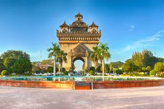 Patuxay monument in Vientiane, Laos Royalty Free Stock Images