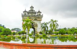 Patuxay Monument, Vientiane, Laos, stock image