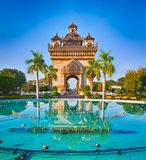 Patuxay monument in Vientiane, Laos Royalty Free Stock Image