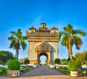 Patuxay monument in Vientiane, Laos Royalty Free Stock Photos