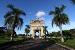 Patuxay monumento-vientiane, Laos Imagenes de archivo