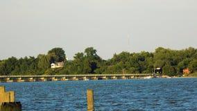Patuxentrivier in Benedict Maryland Stock Afbeeldingen