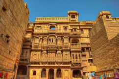 Patwon Ki Haveli In Jaisalmer Stock Photography