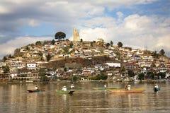 patzcuaro Мексики озера janitizo острова рыболовов Стоковая Фотография