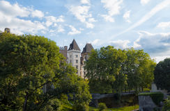 Pau castle view with trees Stock Images