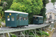 Pau cog railway in the summer park. Royalty Free Stock Images