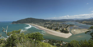 Pauanui and its harbour seen from Mt. Paku Royalty Free Stock Photos