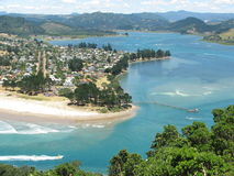Pauanui New Zealand. This photo shows the pretty coastline of Pauanui, a popular sea resort of the North Island in New Zealand Stock Images