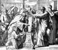 Paul and Barnabas Treated as Gods Stock Photo