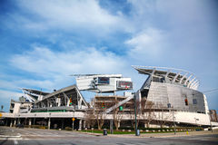 Paul Brown Stadium i Cincinnati, Ohio Royaltyfria Foton