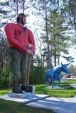 Paul Bunyan e Babe Statues foto de stock royalty free