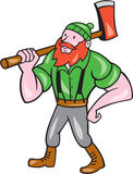 Paul Bunyan LumberJack Isolated Cartoon Royalty Free Stock Image