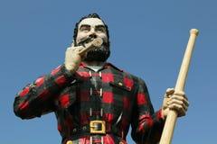 Paul Bunyan Statue Stock Photo