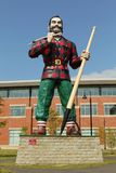 Paul Bunyan Statue Stock Photo