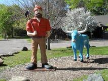 Paul Bunyan und Baby der blaue Ochse Lizenzfreies Stockfoto