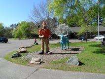 Paul Bunyan und Baby der blaue Ochse stockfoto
