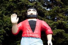 Paul Bunyan Wave Statue Fotos de archivo
