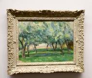 Paul Cézanne - en el museo de Albertina en Viena Fotos de archivo