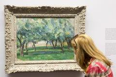 Paul Cézanne - på det Albertina museet i Wien Fotografering för Bildbyråer