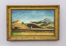 Paul Cézanne painting in Neue Pinakothek in Munich Royalty Free Stock Photo