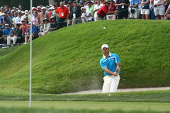 Paul Casey bunker shot Royalty Free Stock Photos