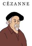 Paul Cezanne illustration stock