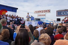 Paul Davis Ryan Rally Mitt Romney Royalty Free Stock Photos