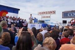 Paul Davis Ryan Rally Mitt Romney Royalty-vrije Stock Foto's