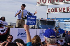 Paul Davis Ryan Rally Mitt Romney Royalty-vrije Stock Fotografie