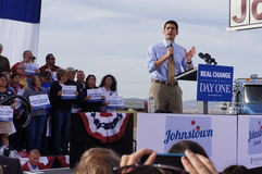 Paul Davis Ryan Rally Mitt Romney Royalty Free Stock Image