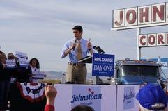 Paul Davis Ryan Rally Mitt Romney Stock Photo