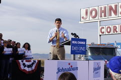 Paul Davis Ryan Rally Mitt Romney royalty free stock photography