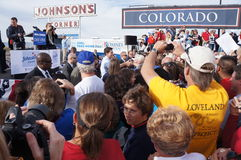 Paul Davis Ryan Rally Mitt Romney Stock Image