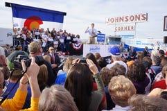 Paul Davis Ryan samlar Mitt Romney Arkivfoto