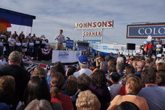 Paul Davis Ryan samlar Mitt Romney Arkivfoton