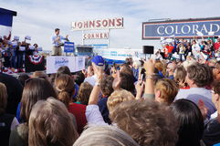 Paul Davis Ryan samlar Mitt Romney Arkivbilder