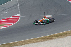 Paul di Resta on curve Royalty Free Stock Photo