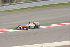 Paul di Resta da competência de Índia-Mercedes da força Foto de Stock Royalty Free