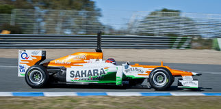 Paul di Resta F1 test drive Jerez 2012 Stock Photos