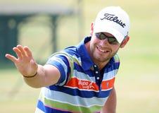 Paul faisant attention (l'anglais) au Français de golf ouvrent 2009 Photo libre de droits