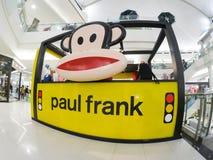 Paul Frank-Kleidung, Zubehör und viele anderen Produkte, das Bild stellt dar, dass Julius der Affe bekannteste Charaktere ist Lizenzfreies Stockfoto
