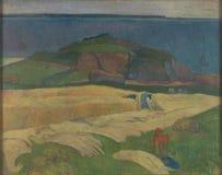 Paul Gauguin - Harvest Le Pouldu royalty-vrije stock afbeeldingen