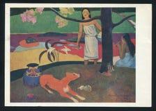 Paul Gauguin Tahitian Pastoral Scenes immagini stock