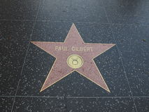 Paul Gilbert-ster in hollywood Royalty-vrije Stock Fotografie