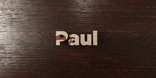 Paul - grungy wooden headline on Maple  - 3D rendered royalty free stock image Stock Images